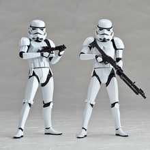 PVC Anime Movie Revoltech Star Wars Action Figure Stormtrooper White Knight Model for Collection Men Toy Joints Movable(China (Mainland))