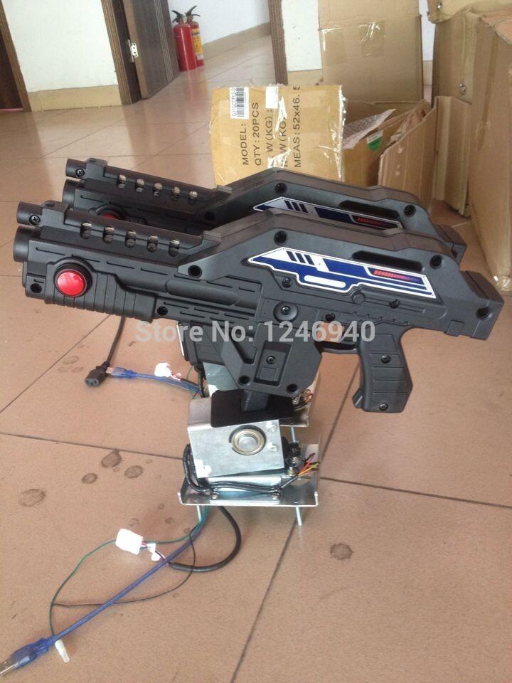 2 pcs gun for aliens extermination shottting machine shooting game gun for pc motherboard converting aliens video game machine(China (Mainland))