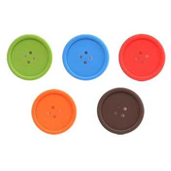 1pc Button Style Silicone plate Insulated Coaster Pad Mat for Coffee Tea Cup Mug CM1221