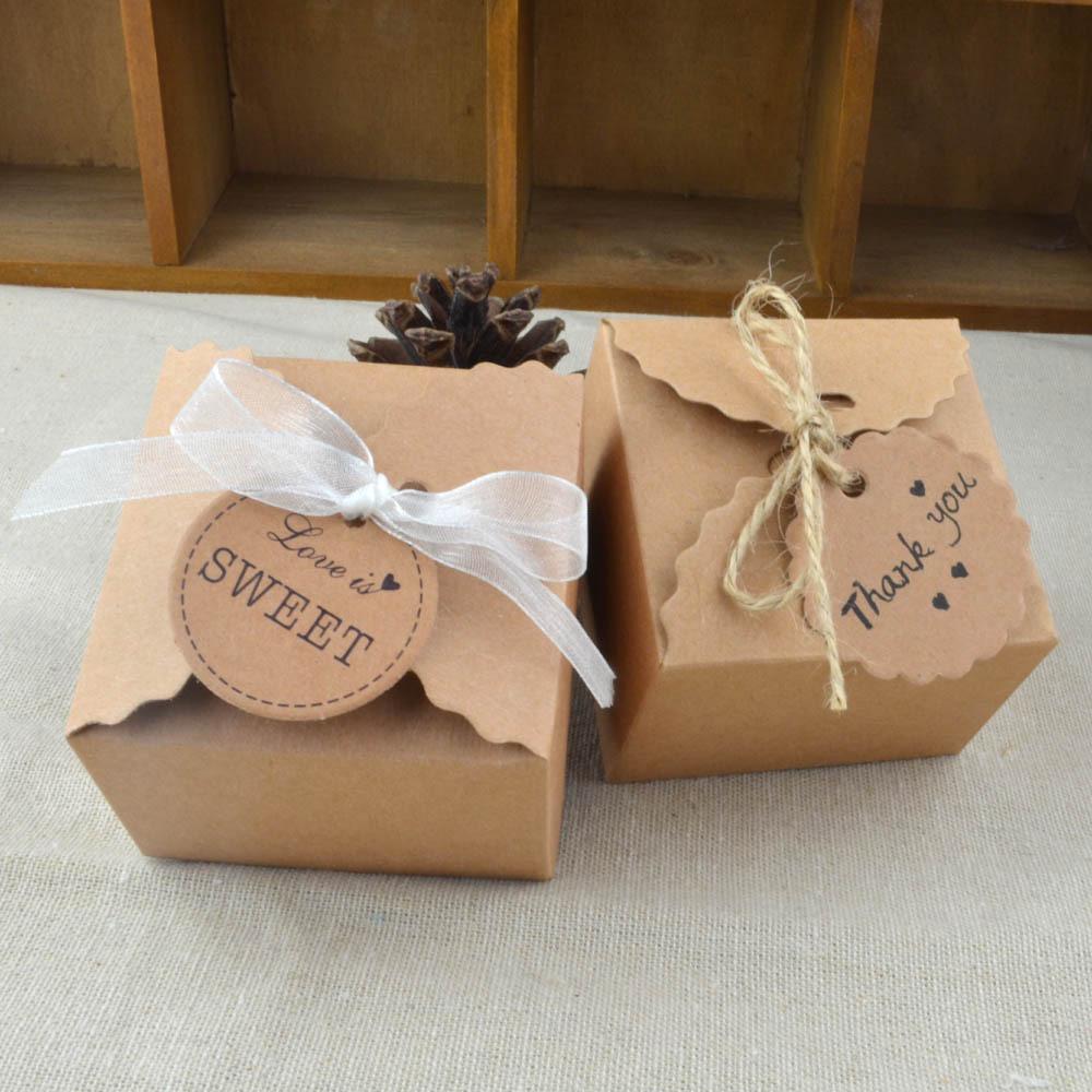 New 10pcs Wavy Pattern Kraft Paper Retro Candy Box Wedding Decoration Baby Shower Wedding Favors and Gifts Casamento Mariage.q(China (Mainland))
