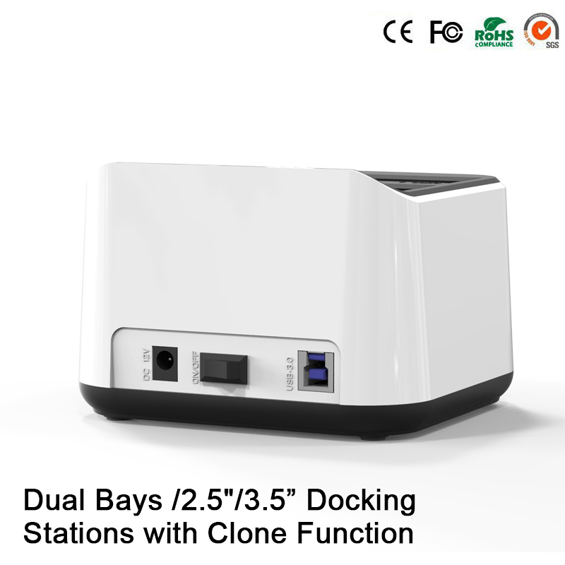2-Bay external hard drive case usb 3.0 2.5 Sata hdd docking station 3.5 HDD usb 3.0 hdd enclosure hdd docking station 3.5(China (Mainland))