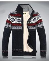 free shipping AFS JEEP Sweter Hombre 2016 Fashion Winter  Wool Cardigan Masculino Men's Casual Thick Warm Sweater Men 128(China (Mainland))