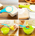 5pcs bag different colours Kitchen works Measuring Spoons Cup Baking Utensil Set cook tools