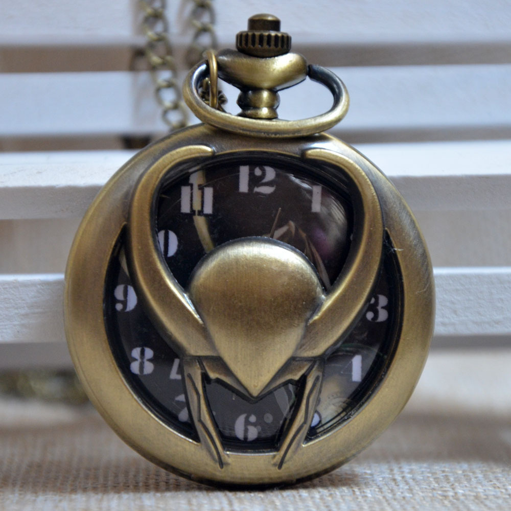 Fast Shipping Pocket Watch New Style The Burton s Nightmare Before Christmas Necklace Chain Quartz Pocket