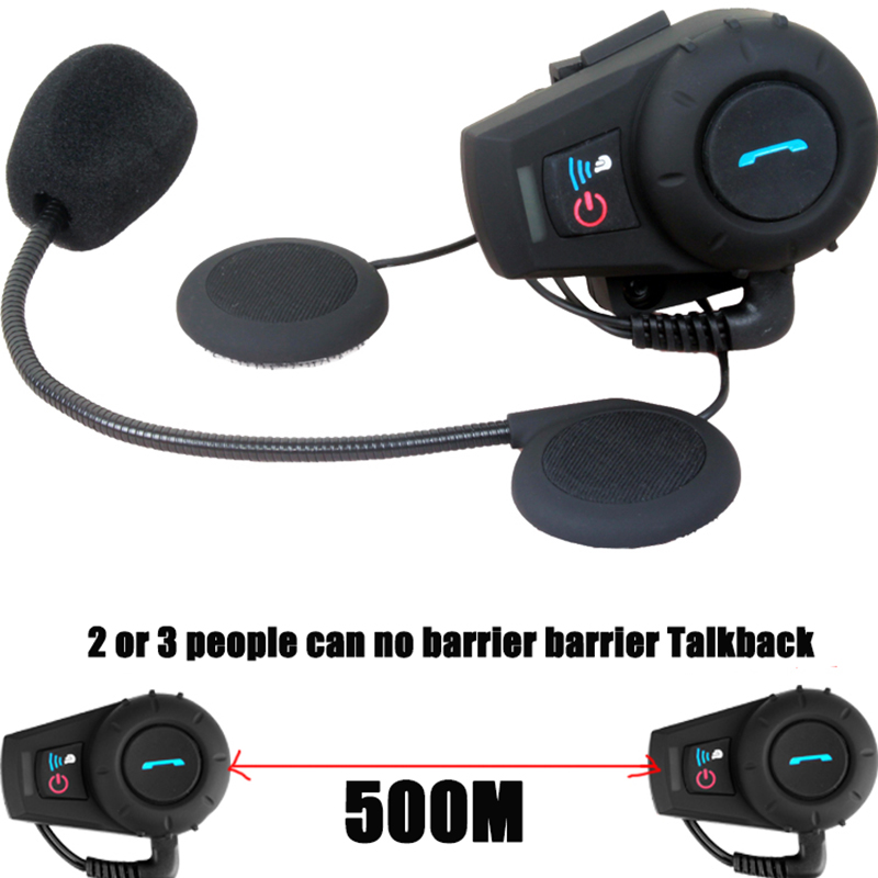 500M motorcycle motorcross bluetooth Motorcycle helmet headset Multi Stereo intercom Interphone(China (Mainland))