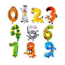 10 шт. 0 — 9 животных номер Balllons воздушные шары на день рождения ну вечеринку Globos № фольгированные шары детские игрушки шарики прямая поставка