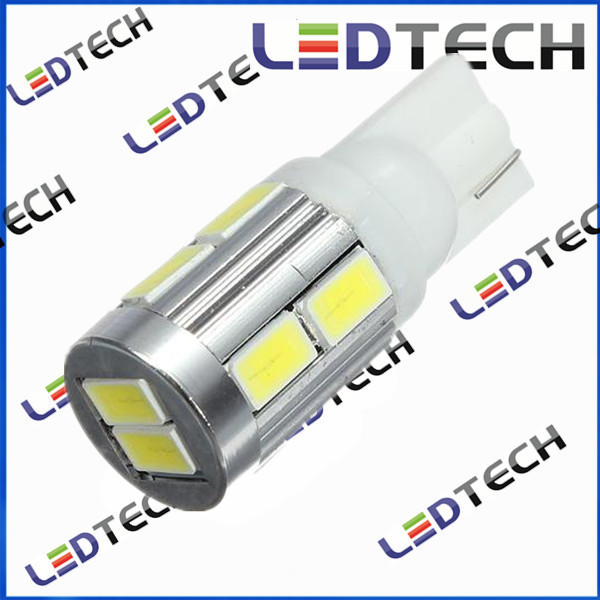 Super Bright 500lm T10 W5W 5630 Chips 10SMD Parking Light  White<br>
