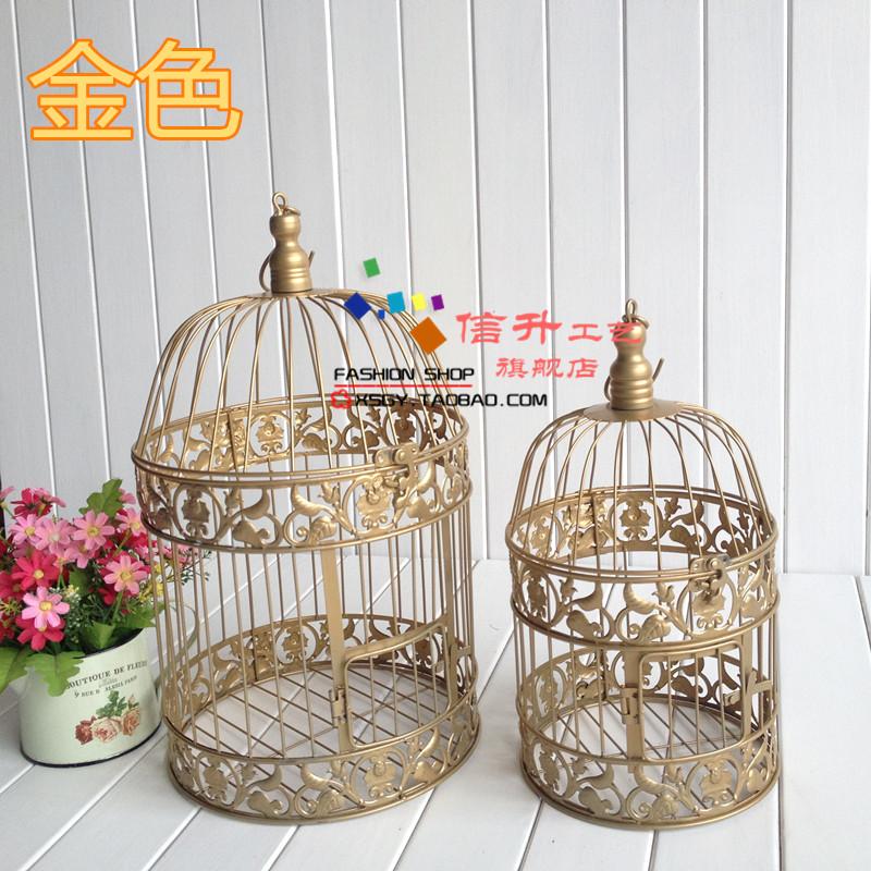 Online kopen wholesale gouden vogelkooi uit china gouden for Vogelkooi decoratie