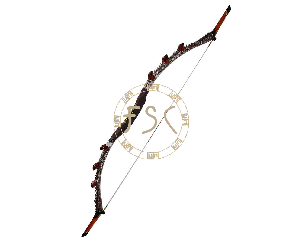35lbs archery horse traditional recurve bow adult hunter hunting shooting bow and arrow snakeskin leather fiberglass