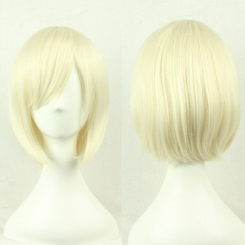 Short Bob Blonde Synthetic Heat Resistant Cosplay Wig