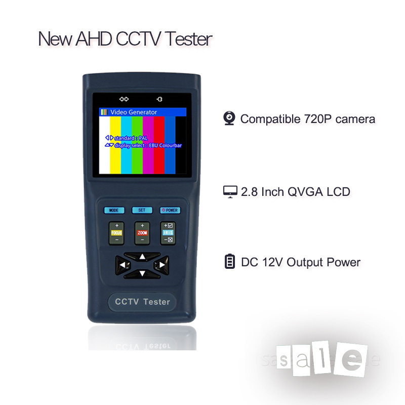Hot Selling NEW AHD 1080P Camera CCTV Tester Pro Compatible With AHD (720P, 960P,1080P) cameras Free Shipping(China (Mainland))