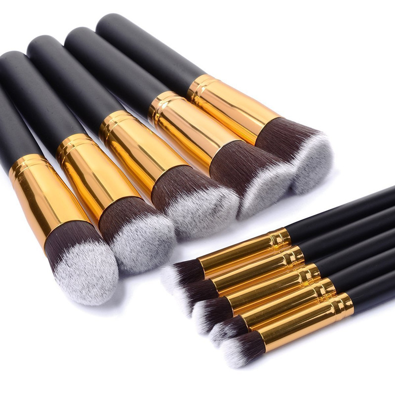 10pcs font b Cosmetic b font font b Makeup b font Brushes Set Contour Brush Pinceau