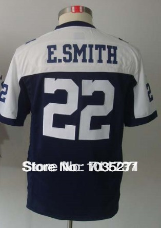 Low Price For Hot Sale #22 Emmitt Smith Kids/Youth Jersey,Stitched Logo Embroidery Top Quality Hot Sale(China (Mainland))