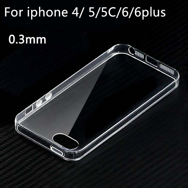 ultra thin 0.3mm Transparent clear GEL cases tpu soft cover for apple iphone 4S 4 5S 5 5C 6 6Plus cases(China (Mainland))
