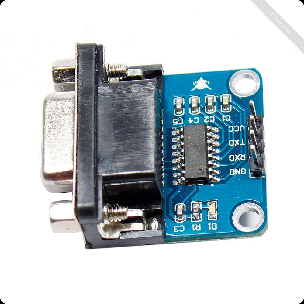 40072 Free shipping MAX3232 RS232 to TTL Serial Port Converter Module DB9 Connector MAX232