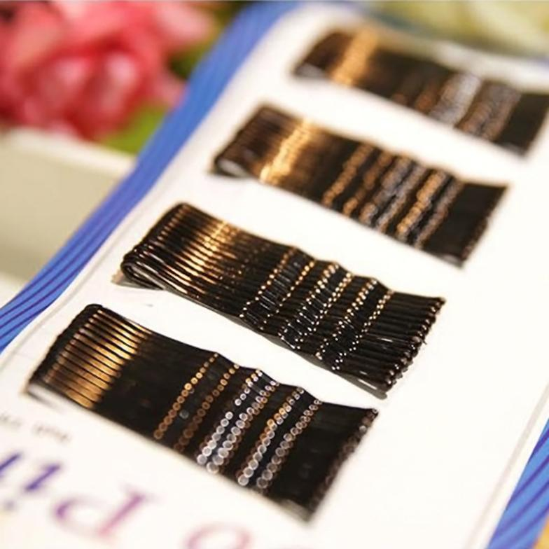 1set BLACK invisible Hair Clips Flat Top Bobby Pins Grips Salon Barrette # EC006(China (Mainland))