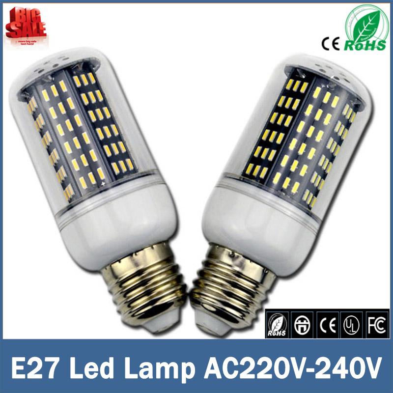 E27 E14 SMD 4014 Led corn bulb lamp 220 V 36 56 72 96 138LEDs replace incandescent 40 W 60 W 80 W 100 W 120 W lampada Led Bulbs(China (Mainland))