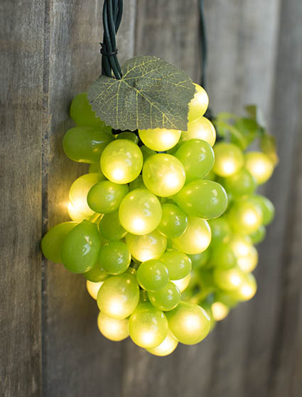 Outdoor String Lights Grapes : Grape Vine String Lights, Indoor/Outdoor, 6 Feet, 5 Clusters, Green for home, wedding, holiday ...