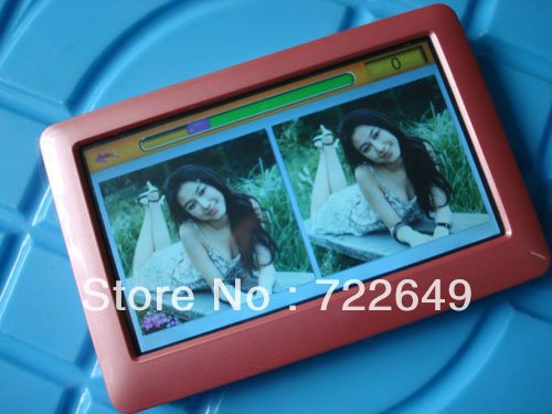 4GB T13 4.3 inch HD definition touch screen Mp4 Mp5 player+TV out+Video+FM radio 2PCS+free shipping(China (Mainland))
