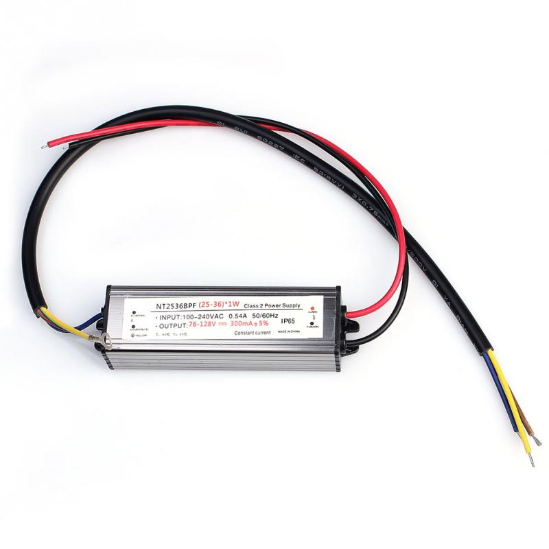 AC DC 76 128V 25 36W Power Supply Driver IP65 Waterproof for outdoor LED Light