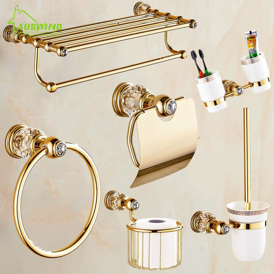 Elegant  FITTINGS Bathroom Design Gold And Chrome Bathroom Accessories  TSC