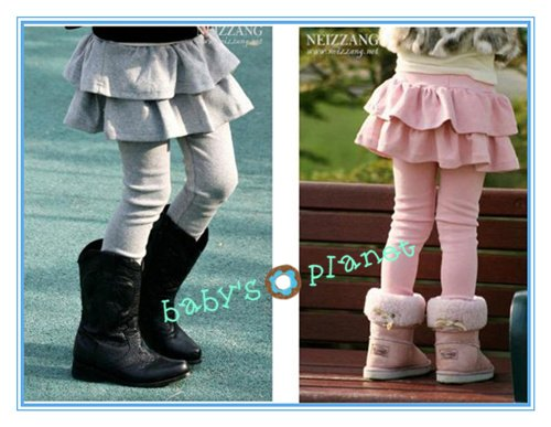 winter thick freeshipping girl legging/pantskirt/legging skirt/girl eulotte suit/fake skirt+legging/5pcs/1lot hotsale