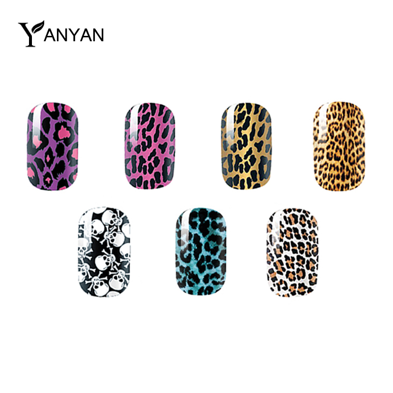 1pcs Sexy Leopard Skull Nail Stickers Decals Adhesive Smooth Nail Foils Wraps DIY Nail Decoration Patch(China (Mainland))