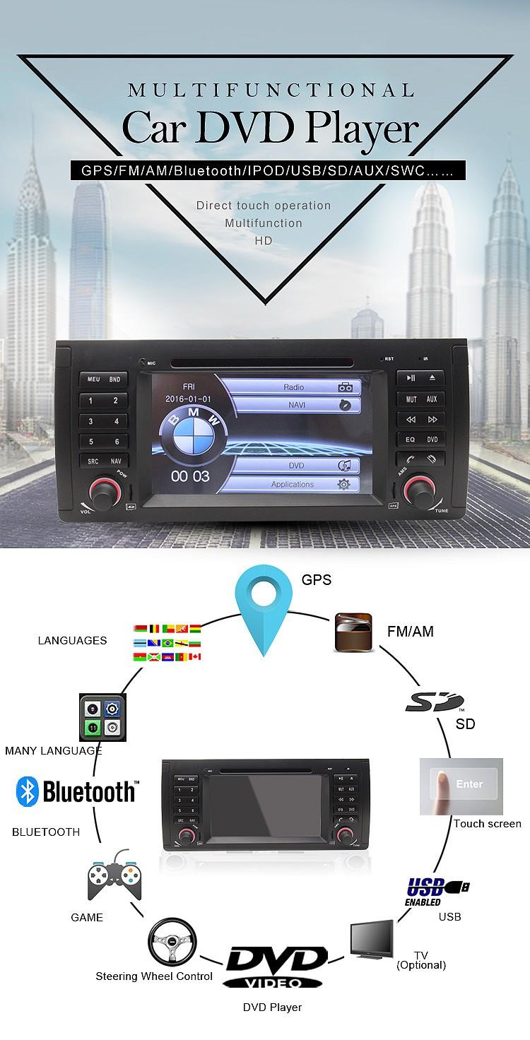 Купить Dual core радио автомобиль мультимедиа systerm стерео видео Для БМ X5 M5 E38 E39 E53 3 Г bluetooth can bus бесплатная карта RDS камера заднего вида