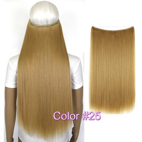 """Верхние термостойкие B5 синтетические волосы 20 """"50 см 50 г эластичность невидимая 25"""