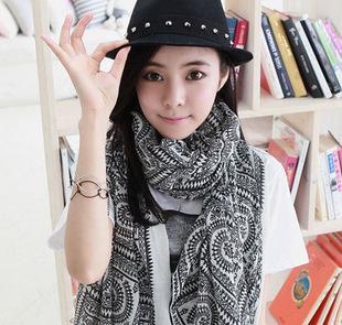 2015 Big Size 170*80cm Women Bohemia national trend autumn and winter scarf women silk scarf rhombus geometry cape(China (Mainland))