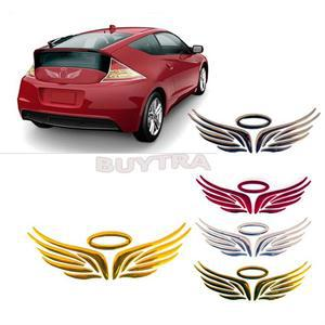 3D Angel Fairy Wings Auto Car Sticker Emblem Badge Decal Car Logo Decor Sticker Gold Silver Red Optional for Car Decoration 1PC(China (Mainland))
