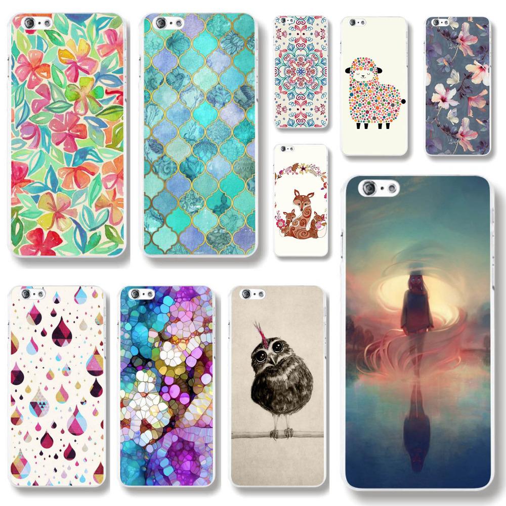 Transparent Edge Love sheep bird Retro Styles Hard PC Back Case Cover For Apple iPhone 6 6s fundas capa Phone Case protector(China (Mainland))
