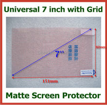 50pcs Universal Anti-glare Matte Screen Protector 7 inch with Grid for Mobile Phone GPS MP3 MP4 GPS Tablet PC Size 153x92mm
