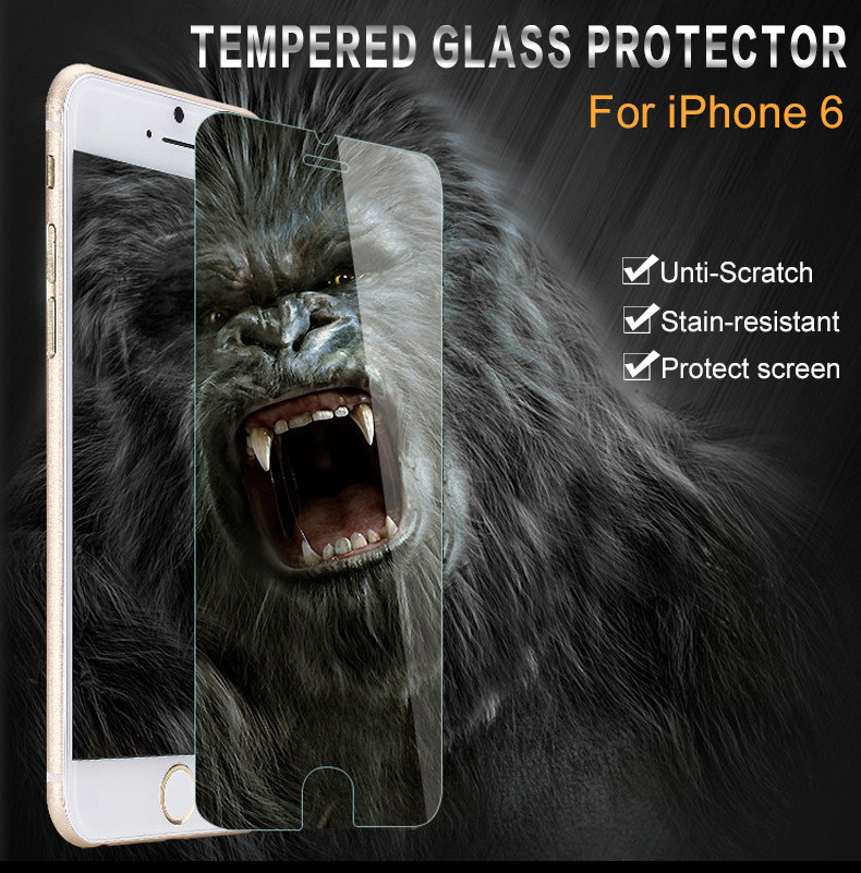 2 Pieces For iphone 6s Tempered Glass Screen Protector Film For font b Apple b font