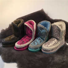 Free shipping Japanese brand boots genuine sheepskin snow boots casual shoes women winter boots factory direct shipments(China (Mainland))