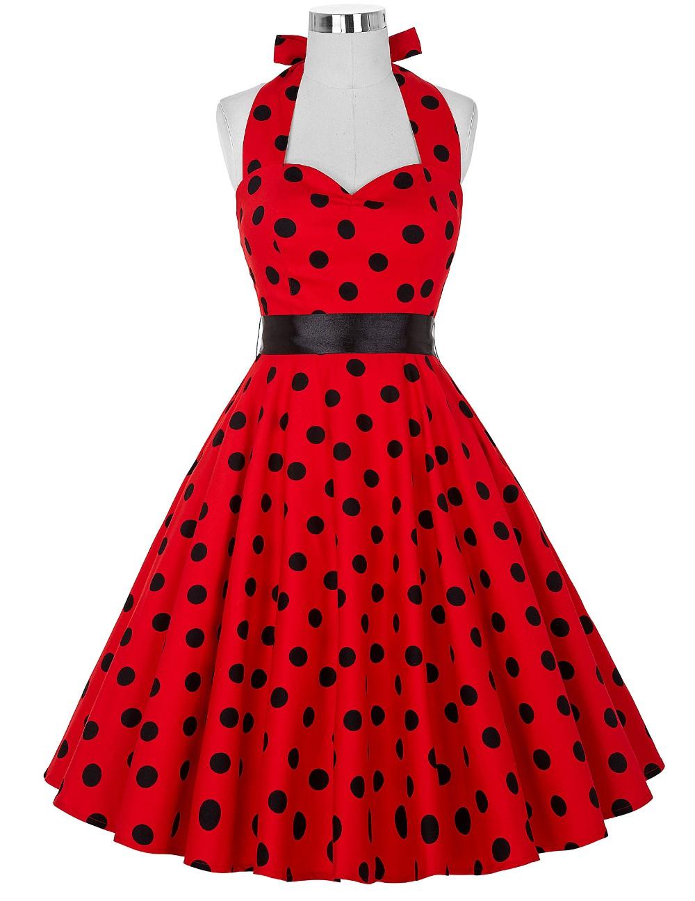 Женщины Летнее Платье 2016 Плюс Размер Одежды Халат Ретро Большие Качели Повседневные Вечерние Жилетidos Горошек 50 s Рокабилли Vintage платья