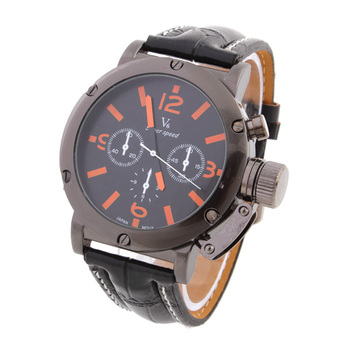Men Watches 2015 Relogio Masculino V6 Relojes Sports Watch Stainless Steel Case Quartz Imitation Military Wristwatches LRY03