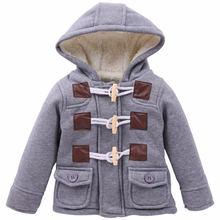 בני 2019 בגדי ילדים עבה סעיף חם סתיו תינוק חורף מעיל מעיל ילד מעיל jacket סלעית ילדים 1-6 שנים(China)