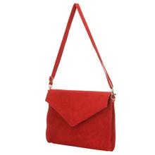 New Fashion Women Clutch Evening Large Envelope Handbag Real Suede Leather Shoulder Bag Clutch Evening Bag