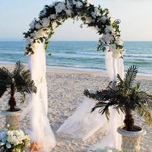 Organza White Roll Soft Sheer Wedding Chair Sash Bows