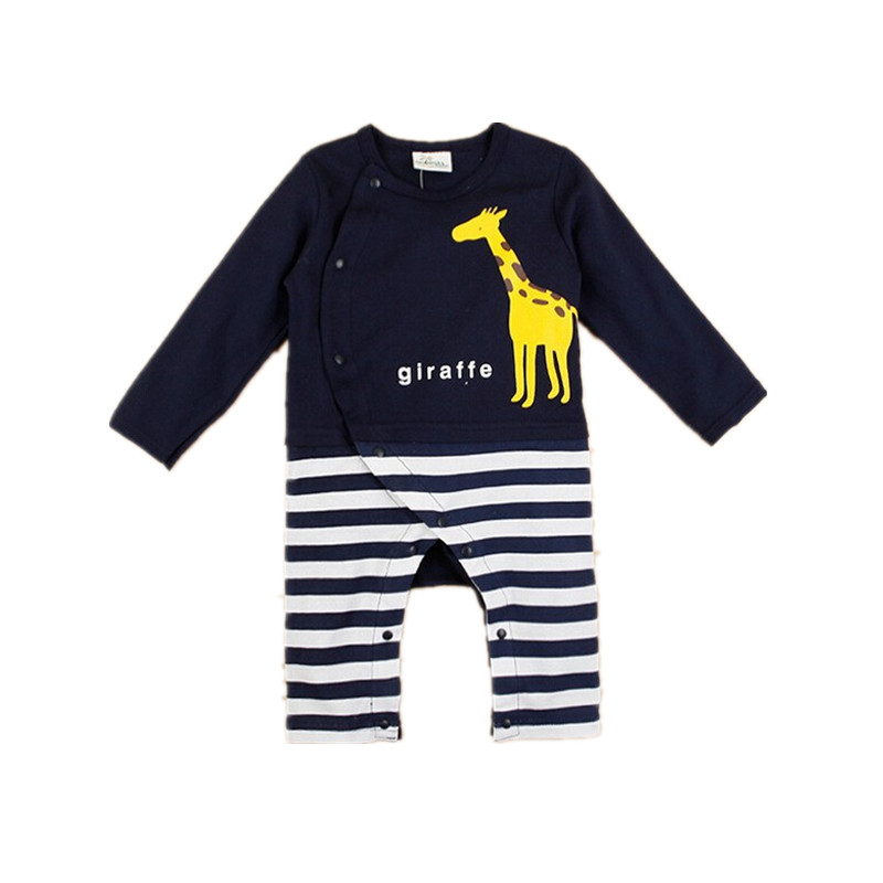 Cute Bear Animal Baby Rompers Long Sleeves Baby Girls Clothing Cartoon Jumpsuit Kids Newborn Baby Boys Clothes V20(China (Mainland))
