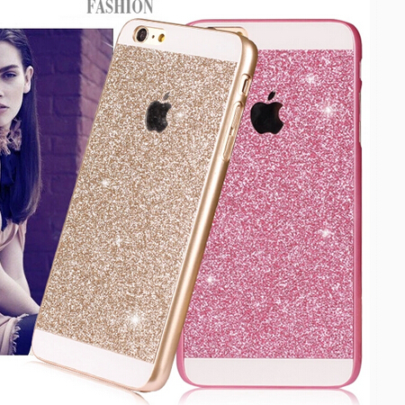 Luxury Cell Phone Case Cover For iPhone 6 6s Plus Hot Ultra Slim Silicone Hard Skin Bling Diamond Sparkle Glitter Case Cover(China (Mainland))
