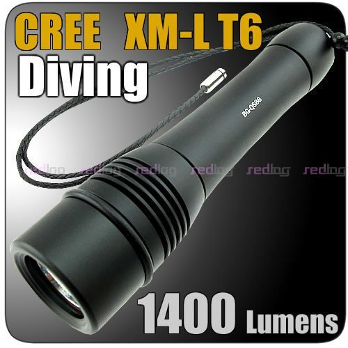 1400 Lumens Cree T6 100 Meter Waterproof  Diver Diving LED Flashlight FREE Shipping