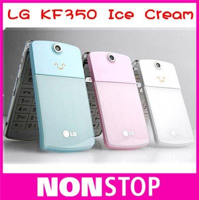 10pcs/lot--Original LG KF350 Ice Cream 3.15MP GSM MP3 Unlocked Mobile Phone Free Shipping(China (Mainland))