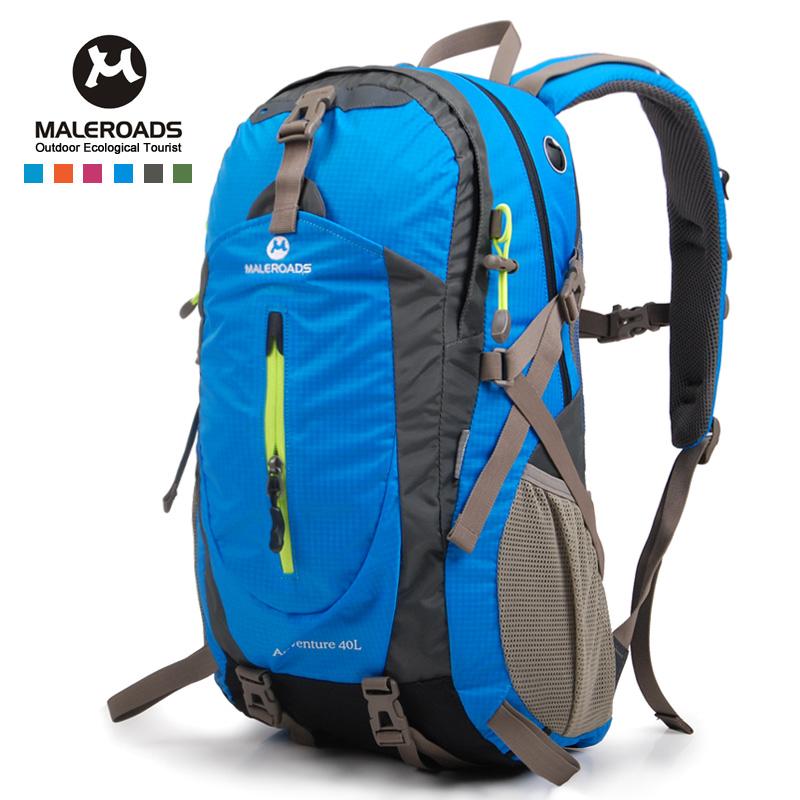 Free shipping travel bag sport backpack waterproof outdoor climbing mountaineering hiking camping school backpack women&men 40L(China (Mainland))