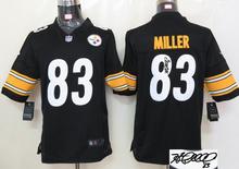 Signature ! New arrival,Pittsburgh Steelers 83 Heath Miller 84 Antonio Brown 86 Hines Ward 92 James Harrison,camouflage(China (Mainland))