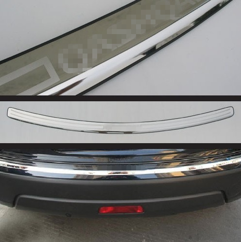 Car Styling Stainless Steel Rear Bumper Door Sill Plate Scuff For Nissan Qashqai 2007-2012 2011 2010
