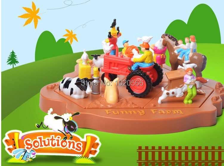 Authentic guanghua toys Maze game fun farm 50 shut top intelligence task Parent-child board game(China (Mainland))