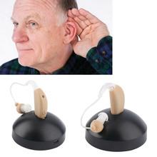 Новый Аккумуляторная ухо слуховой аппарат mini устройства усилитель цифровой слуховые аппараты за ухом для пожилых acustico ЕС plug горячая(China (Mainland))