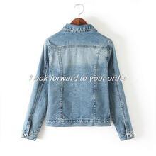 2014 Spring Winter Fashion Cool Ladies Denim Jacket Women Coat